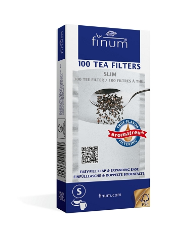 100 Tea Filters size Slim - up to 4 cups